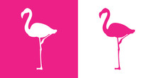 Icono Plano Flamingo Con Color...