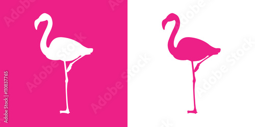 Icono plano flamingo con color rosa