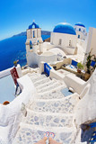 Fototapeta Scene - Santorini, Greece