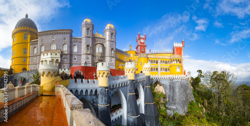 Fototapeta  View of Palace da Pena - Sintra, Lisboa, Portugal - European travel