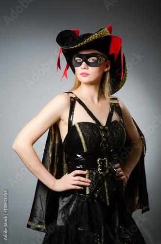 Canvas Prints Art Studio Woman in pirate costume - Halloween concept