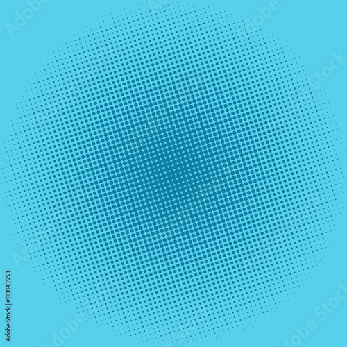 Pop Art Background, Dots on Blue Background,Halftone Background, Retro Style, Vector Illustration