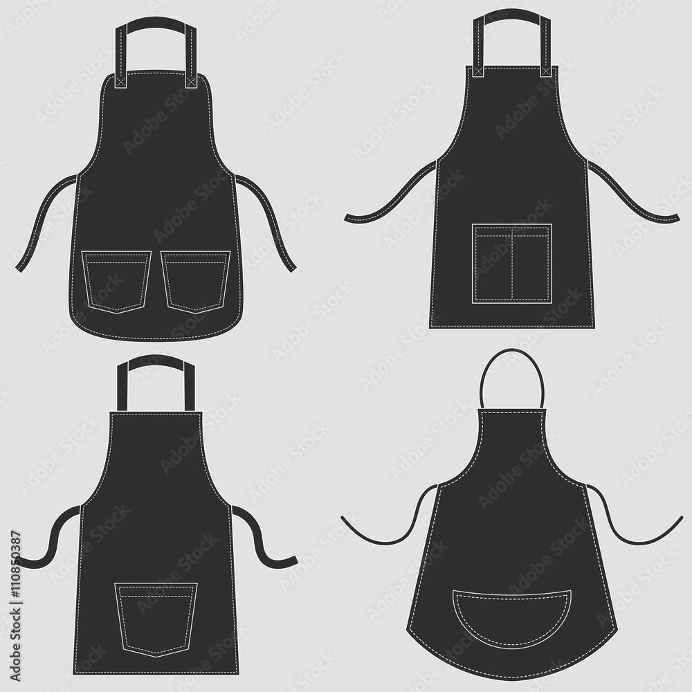 Fototapeta Black apron set