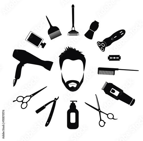 Set of Barber tools for men