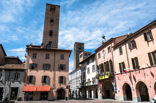 Photo Square and towers in Alba, Italy