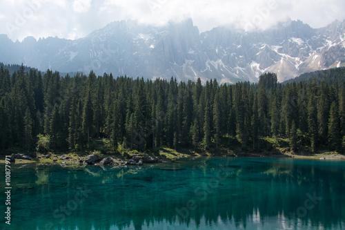 Fotografie, Obraz  Lake Carezza, Bolzano, Itálie