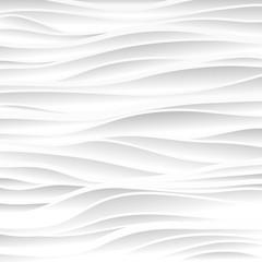 Fototapeta White texture. Wavy background. Interior wall decoration. Vector