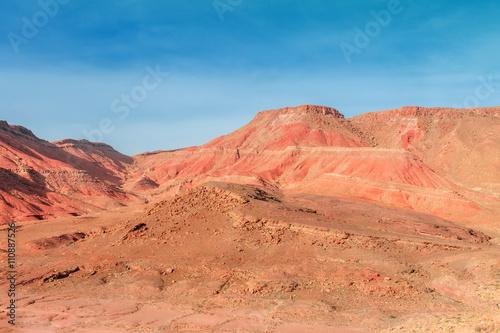 Tuinposter Baksteen Ounila Valley Landscape. Morocco