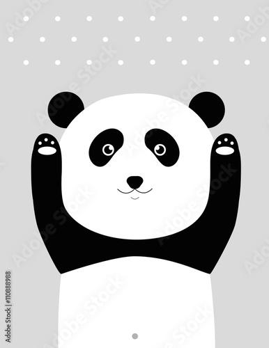 Naklejka premium Jestem pandą.