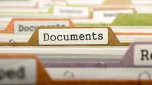 Documents On Business Folder I...