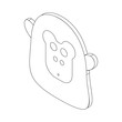 Monkey face icon, isometric 3d style