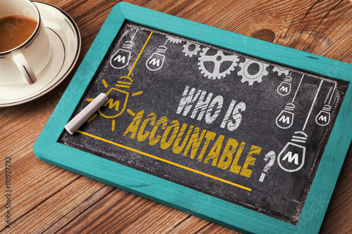 Who Is Accountable Wallpaper Mural