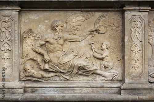 Chronos Bas-Relief Artus Court Gdansk Poland Canvas Print