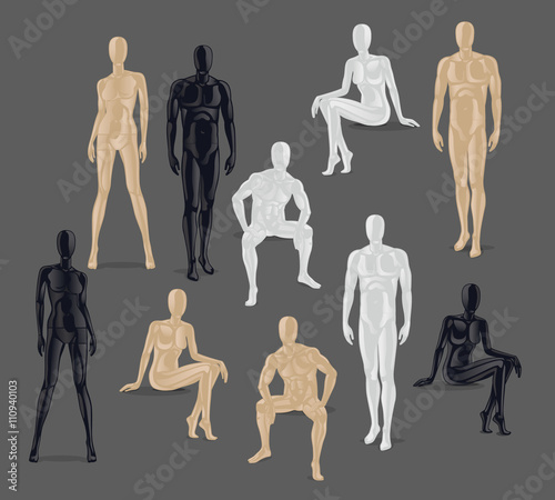 Photo Vector Isolated Mannequins