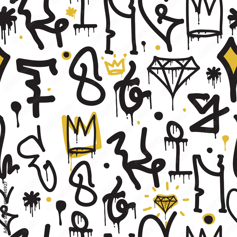 Graffiti tło wzór