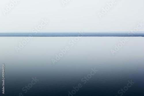 Fotografie, Obraz  Light white minimalist landscape with a horizon line