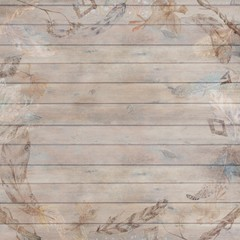 FototapetaBoho Chic Fall Wood Background