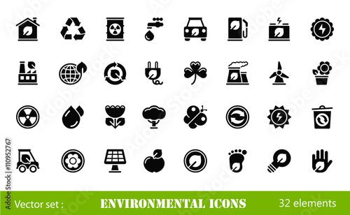 Foto  environmental icons