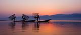 Intha rybak w Inle wiosce, Myanmar. - 110953186