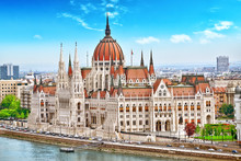 Hungarian Parliament At Daytim...
