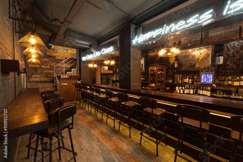Fotografie, Obraz  Interior of pub.