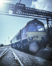 Freight Train In Port, Grimsby, England, United Kingdom