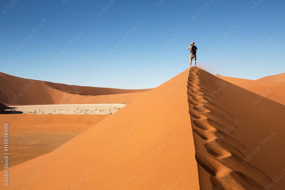 Vue sur Dead Valley en Namibie