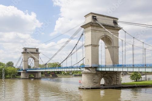 Poster Bridges Pont suspendu du port à l'anglais