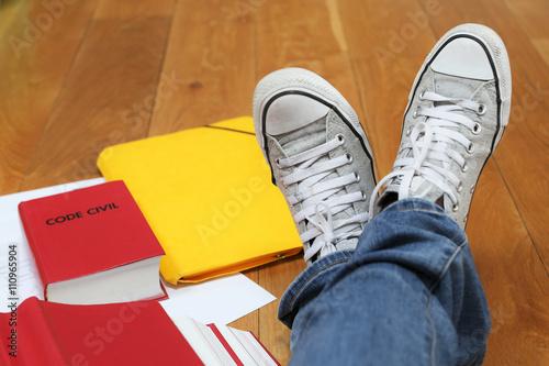 Foto  Examens à l'université et période de révisions