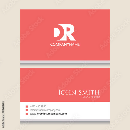 Dr Logo Business Card Template Vector Graphic Branding