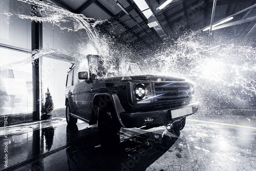 Poster  SUV Auto am Carwash