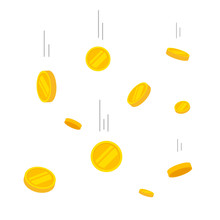 Coins Falling Vector Illustrat...
