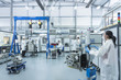 Graphene nanomaterial manufacturing environment in graphene processing factory