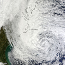 Hurricane Sandy, October 30 2012. NASA Earth Observatory Image By Jesse Allen, Using VIIRS Day-Night Band Data From The Suomi National Polar-orbiting Partnership (Suomi NPP)