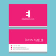 EI Logo | Business Card Template | Vector Graphic Branding Letter Element Combination | White Background Abstract Design Colorful Object | Negative Space Style