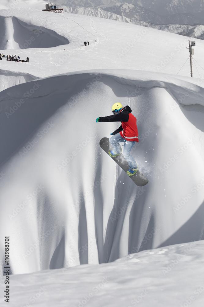 Fotografia Snowboard Rider Jumping On Mountains Kup Na