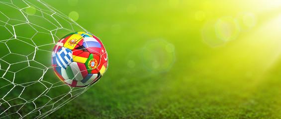 Fototapeta Piłka nożna Goal - European Football Championship