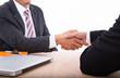 Businessman shake hands for success partnership