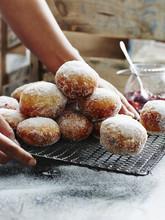Jam Filled Doughnuts, Close-up