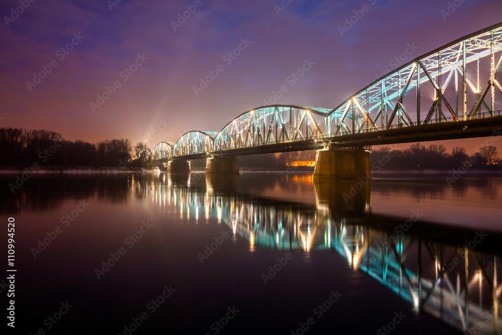 Plakat Toruń Miasto Nocą
