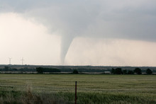 Tornado Over The Plains In Kansas. NOAA's National Severe Storms Laboratory (NSSL) Collection. Photo Date: 2008 May 23