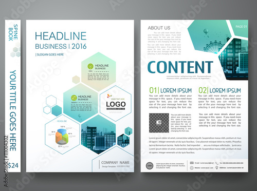 brochure design template vector flyers annual report business