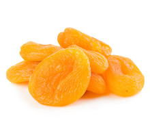 Dried Apricots Close-up On A White Background.