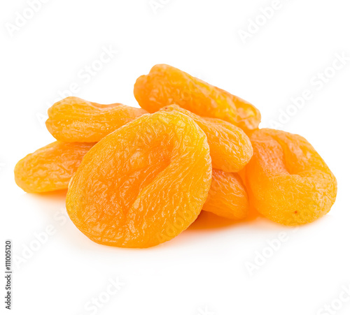 Canvastavla Dried apricots close-up on a white background.