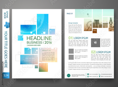 Fotografia  Brochure design template vector
