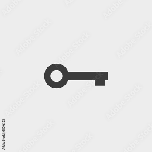 Vászonkép Key Icon in black color. Vector illustration eps10