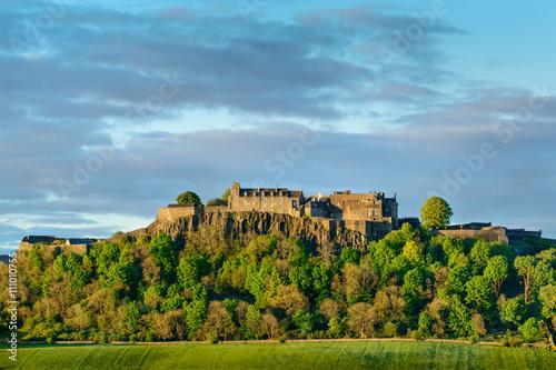 Stirling Castle in setting sunlight. Poster