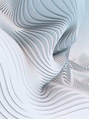 FototapetaAbstract 3d rendering wavy band background surface