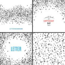 Random Letters Seamless Pattern