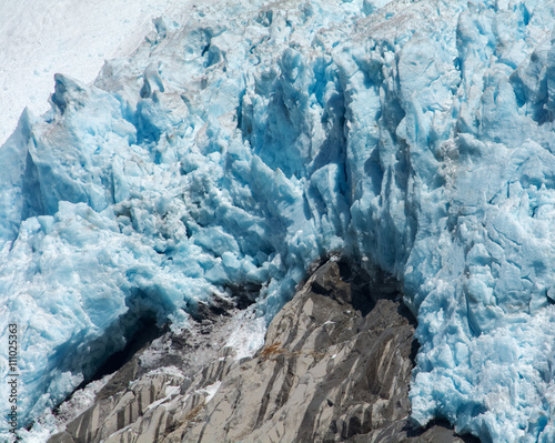 Fotobehang Gletsjers Blue Glacier Melting